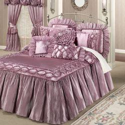 Marquis Flounce Grande Bedspread Orchid