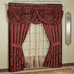 Shiraz Wide Tailored Curtain Pair Claret 100 x 84