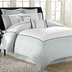 Hotel 8 pc Comforter Bed Set Pale Aqua