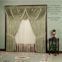 Aberdeen Scroll Waterfall Valance