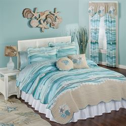 Seaview Quilt Set Light Blue