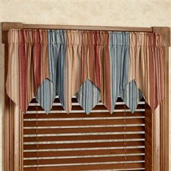 Merveilleux Katelin Striped Layered Window Valance