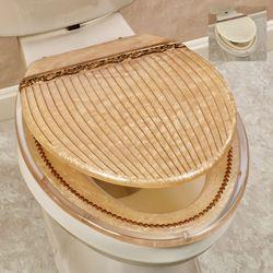 Roma Elongated Toilet Seat Gold