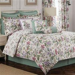 Palace Green Comforter Set Ivory