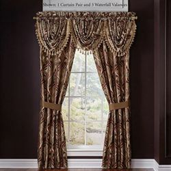 Bradney Tailored Curtain Pair Multi Warm 82 x 84