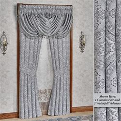 Colette Silver Tailored Curtain Pair 84 x 84