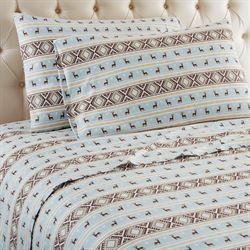 Reindeer Stripe Sheet Set White