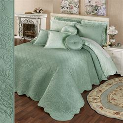 Everafter Grande Bedspread Celadon