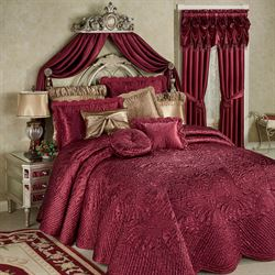 portia ii ruby quilted oversized bedspread bedding - Touch Of Class Bedding
