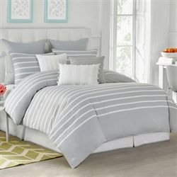 Capri Stripe Comforter Set Gray