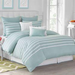 Capri Stripe Comforter Set Spring Green
