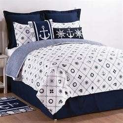 Sailors Bay Quilt Set White