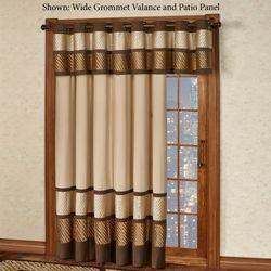 Delta Grommet Patio Panel Bronze 112 x 84 & Patio Door Curtain Panels   Touch of Class