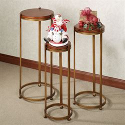 Acadia Pedestal Table Set Autumn Gold Set of Three