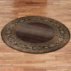 Generations Border Round Rug