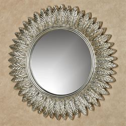 Ella Leaves Wall Mirror Silver with Gold