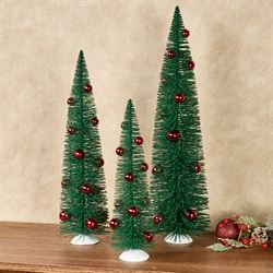 Green Tree Figures Three Piece Set