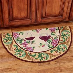 Old World Wine Slice Rug Multi Warm 34 x 20