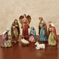 Traditional Nativity Figurines Multi Warm