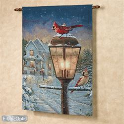 We Are Home Lighted Fiber Optic Wall Tapestry Multi Warm