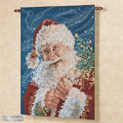 Here Comes Santa Claus Wall Tapestry Multi Bright