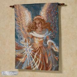 Dona Gelsinger The Light Of The World Fiber Optic Angel Wall Tapestry