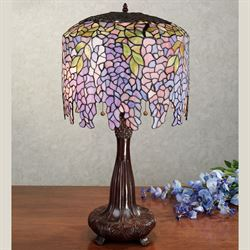 Wisteria Stained Glass Lamp with CFL Bulbs