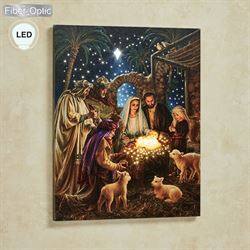 The Nativity Lighted Canvas Wall Art Multi Warm