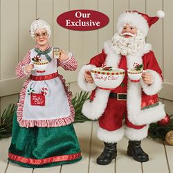 Touch of Nutmeg Clothtique Santa and Mrs Claus Red 2 Piece Set