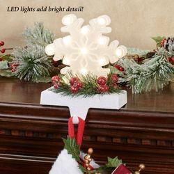Snowflake LED Lighted Stocking Holder Multi Warm
