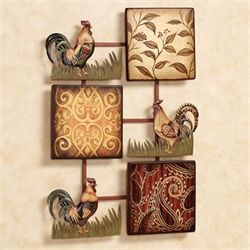 Rooster Trio Wall Accent