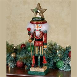 Hollywood Nativity Hat Nutcracker Figure Red