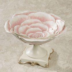 Rose Bloom Decorative Centerpiece Bowl Pink