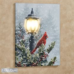 Winter Solitude Lighted Canvas Wall Art Multi Cool