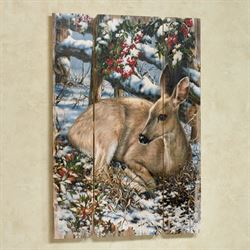 Sweet Visitor Deer Wall Plaque Multi Earth