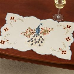 Proud Peacock Placemats Multi Warm Set of Four