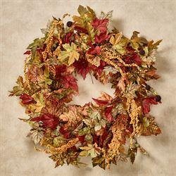 Maple Leaf Fall Wreath Multi Warm