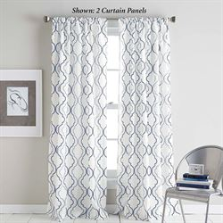 Nahla Semi Sheer Curtain Panel Denim