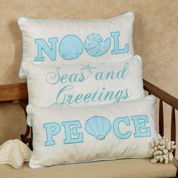 Coastal Noel Pillow Off White