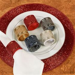 Beaded Napkin Rings Set of Four