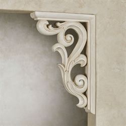 Astrella Corbel Brackets Antique White Pair