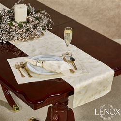 Lenox Holly Shimmer Table Runner Ivory 14 x 70