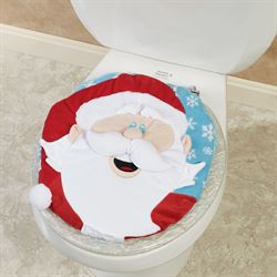 Santa Toilet Lid Cover White