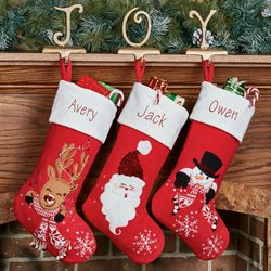 Rudolph Christmas Stocking Red