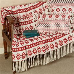 Nordic Sweater Throw Blanket Red 50 x 60