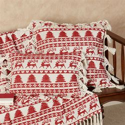 Prancer Throw Blanket Red 50 x 60