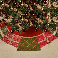 Christmas Present Tree Skirt Red 56 Diameter