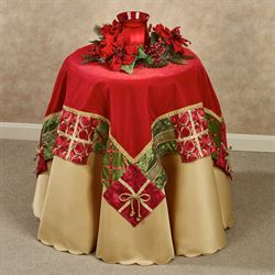 Christmas Present Table Topper Red 42 Square
