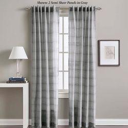 Rowan Semi Sheer Curtain Panel