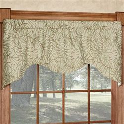 Kaili Shaped Window Valance Beige 52 x 21